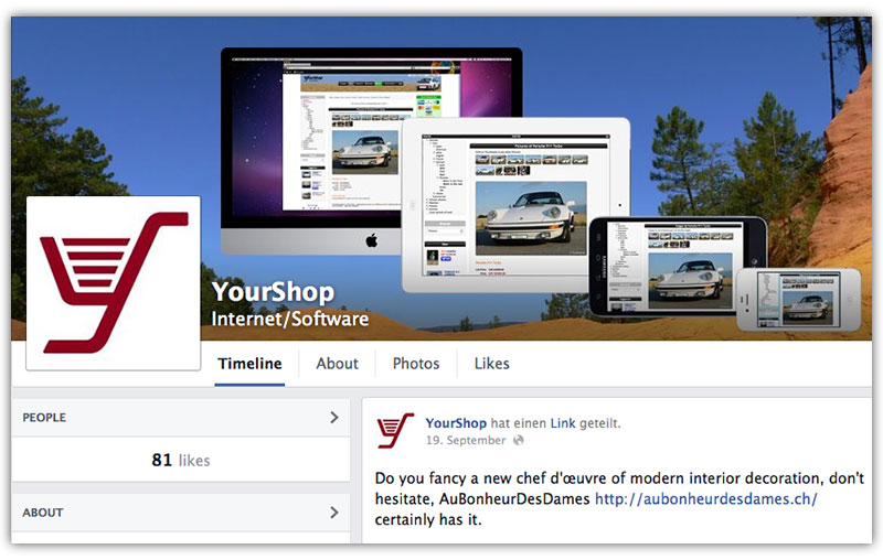 Become a YourShop fan